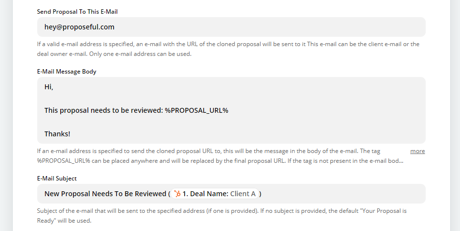 Proposal automation lets you send proposals automatically by email