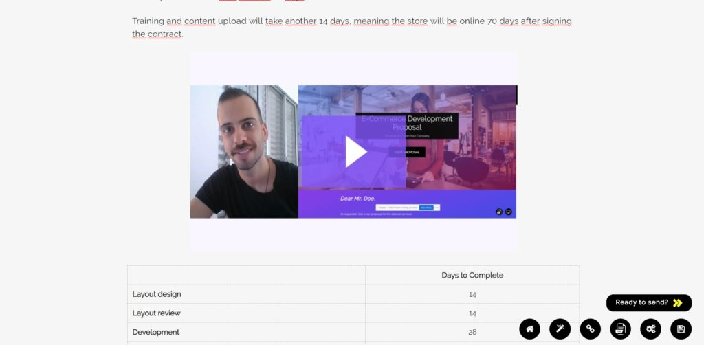 Your client can now watch the proposal presentation from Proposeful