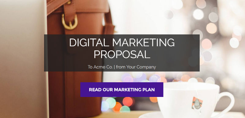 Digital Marketing Proposal Template